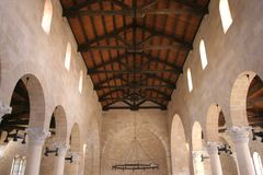 The Church of the Multiplication of the Loaves and the Fishes, Tabgha. Israel royalty free stock photos