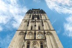 Church in Munster, Germany. Tower from the Uberwasserkirche in Munster, Germany Royalty Free Stock Image