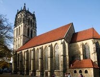Church in Munster. MUENSTER, GERMANY -  Oktober 21 : Church in Munster, Germany . It is the citys main church, as well as the center of the Diocese of Munster Stock Photography