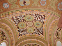 Church murals. Old church frescoes in the Cathedral of St. Prince Alexander Nevsky in Yalta, Crimea Stock Photography