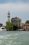 Church, Murano. The church of Santa Maria Degli Angeli on the island of Murano, Venice, Italy.  It was in the adjacent convent that one of Casanova's great loves Royalty Free Stock Photo
