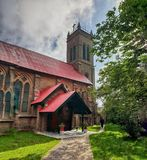 Church in Murree Pakistan. Holy Trinity Church Is one of the oldest building of Murree. After the British Colonial Administration took over Punjab in 1849, hill Royalty Free Stock Photography