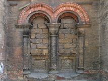 Church - muted. Windows of a church destroyed during the communist reign in Odessa, Ukraine Royalty Free Stock Photo