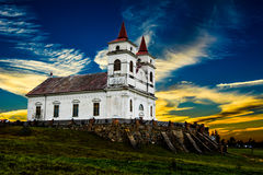 Church. In my country is very old and beautifull church. love this place, love this country, love this church. And at sunset, nature is amazing Royalty Free Stock Image