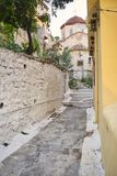 Church in Nafplio. Othodox church in alley of the old town Nafplio, Greece stock images
