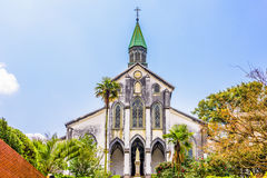 Church in Nagasaki. Nagasaki, Japan at historic Oura Church royalty free stock photos