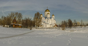 The Church in the name of Orthodoxy. Orthodox Church in winter, Moscow,Russia Royalty Free Stock Image