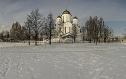 The Church in the name of Orthodoxy. Orthodox Church in winter, Moscow,Russia Stock Image