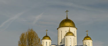 The Church in the name of Orthodoxy. Orthodox Church in winter, Moscow,Russia Royalty Free Stock Photos