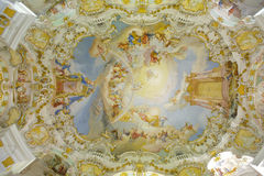 Church named Wieskirche in Bavaria. Is a world famous landmark and UNESCO heritage Stock Photo