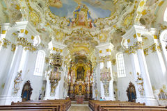 Church named Wieskirche in Bavaria Royalty Free Stock Image
