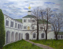 Church of the Nativity. An oil painting of the Church of the Nativity in Betlehem Stock Photos