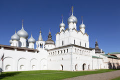 Church of the Nativity and the Assumption Cathedral in Rostov the Great Stock Images