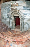 Church of the Nativity in Bethlehem, the descent into the cave,. One of the oldest continuously operating churches in the world. The first temple over the cave Stock Photos