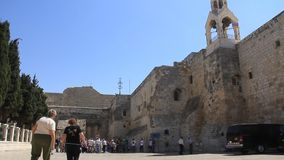 Church of the Nativity in Bethlehem, Israel stock video