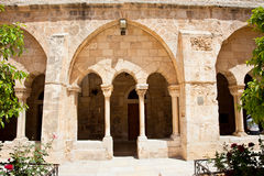 Church of Nativity, Bethlehem. Palestine, Israel. Entrance inf the gallery of the Church of Nativity, Bethlehem. Palestine, Israel Stock Photo