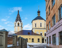 Church of  Nativity in Fishers, Russia, Tver. Church of the Nativity in Fishers, Russia, Tver Royalty Free Stock Photo