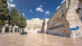 The Church of the Nativity of Jesus Christ timelapse hyperlapse. Palestin. The city of Bethlehem.