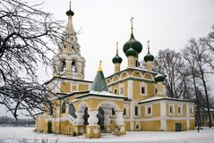 Church of the Nativity of John  Baptist in Winter Royalty Free Stock Image