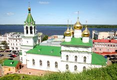 Church Nativity John Precursor. Spring view Church of the Nativity of John the Precursor Nizhny Novgorod Russia Royalty Free Stock Image