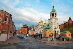 Church of the Nativity of John the Precursor in Nizhny Novgorod. Nizhny Novgorod, Russia - May 2, 2015: Church of the Nativity of John the Precursor. The church Royalty Free Stock Images