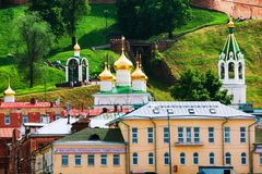 Church of the Nativity of John the Precursor in Nizhny Novgorod, Russia in summer. Nizhny, Novgorod. View of Church of the Nativity of John the Precursor in Stock Image