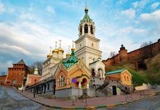 Church of the Nativity of John the Precursor in Nizhny Novgorod. Church of the Nativity of John the Precursor. The church was built in the late 17th century Stock Image