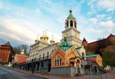 Church of the Nativity of John the Precursor in Nizhny Novgorod. Church of the Nativity of John the Precursor. The church was built in the late 17th century Royalty Free Stock Photo