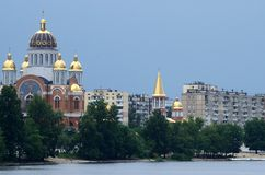 Church of the Nativity at Obolon embankment,Kiev,Ukraine Stock Images