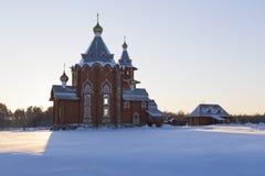Church of the Nativity Prophet and Forerunner John the Baptist. Village Zaruchevnya (Shilovskaya), Belsky district, Arkhangelsk region, Russia Stock Photos
