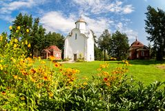 Church of the Nativity of the Theotokos 1226 on Peryn Skete in. Veliky Novgorod, Russia Royalty Free Stock Photo