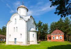 Church of the Nativity of the Theotokos on Peryn Skete. In Veliky Novgorod, Russia Stock Image