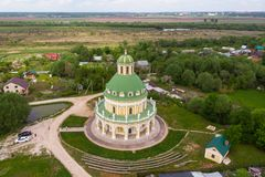 Church of the Nativity of the Virgin in Podmoklovo, Russia royalty free stock photos