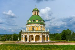 Church of the Nativity of the Virgin in Podmoklovo, Russia stock photography