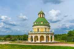 Church of the Nativity of the Virgin in Podmoklovo, Russia royalty free stock photo