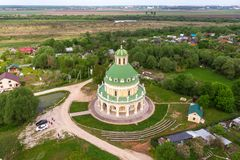 Church of the Nativity of the Virgin in Podmoklovo, Russia stock photos