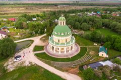 Church of the Nativity of the Virgin in Podmoklovo, Russia royalty free stock images