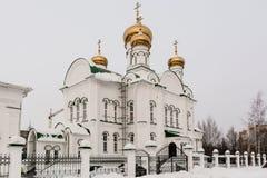 Church of the Nativity. Yoshkar-Ola, Russia - January 18, 2017 Winter Church of the Nativity in Yoshkar-Ola in the Christian Epiphany Eve Stock Image