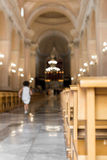 Church nave Royalty Free Stock Photo