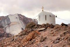 The church near Betlemi Hut near Kazbek Mount (Georgia) Stock Photography