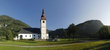 Church near Bohinjska Bistrica in Slovenia Royalty Free Stock Images