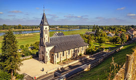 Church near the castle of Chaumont-sur-Loire. Royalty Free Stock Photography