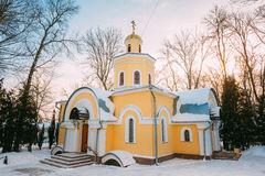 Church near Cathedral of St. Peter and Paul in Gomel, Belarus Royalty Free Stock Images