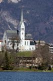 Church near Lake BLED in Slovenia in Eastern Europe Royalty Free Stock Photos