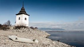Church near lake, Slovakia Royalty Free Stock Photos