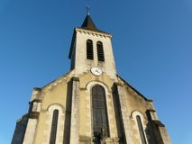 Church near Poitiers in France Stock Image