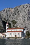 Church near the river Cetina in Omis Stock Photography