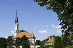 Church near Schonbrunn Palace, Vienna Royalty Free Stock Photography