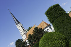 Church near Schonbrunn Palace, Vienna Stock Photos