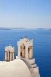 Church near the sea. (Santorini Island, Greece Royalty Free Stock Photos